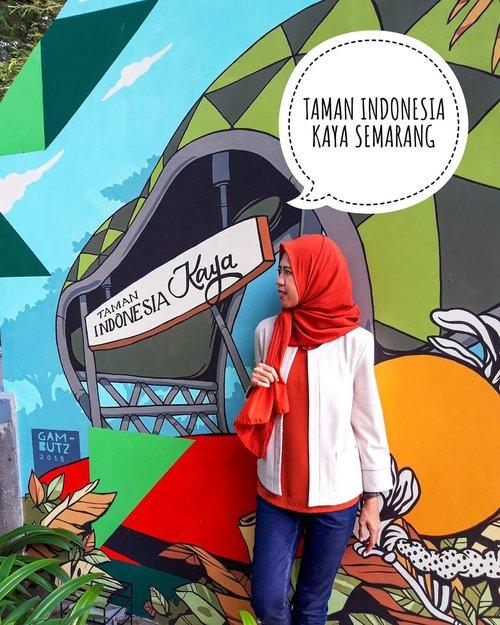 #DARAKEMBARA Seneng banget deh Semarang kini punya ruang publik yang juga jadi wadah ekspresi para seniman.  Taman KB yang dulunya kumuh dan tak terawat, kini telah berganti rupa menjadi Taman Indonesia Kaya.   Gimana kerennya taman yang terletak di jalan menteri Soepeno, Semarang tersebut? Yuk klik link di bio atau >> bit.ly/tamanindonesiakaya <<  #travel #adventure #wanderlust #vacation #travelgram #explore #holiday #travels #traveler #traveller #traveling #travelling #clozetteid #travelphotography #travelingram #travelblog #travelblogger #traveladdict #exploretocreate #passionpassport #tourism #mytravelgram #instapassport #tourist #traveltheworld #semarang #jatenggayeng #exploresemarang  