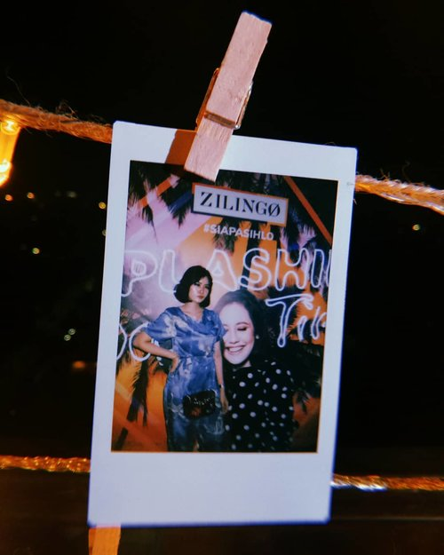 #SiapaSihLo last night? Me, wearing Crane Jumpsuit and Pretty Please Embellished Shoulder Bag from @zilingoid 💫 Thanks for #SplashinGoodTime, it was fun!  #instaxfuji #instaxindonesia