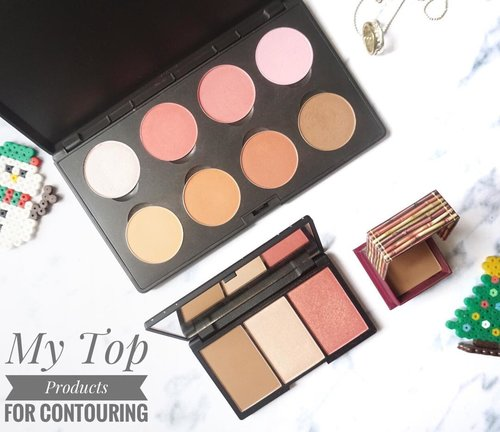 My Top Products for Contouring 🍁 collaborated with @atomcarbonblogger , UP on my BLOG 🌸 Kindly check the link in my bio 🍁 . #kbbvbeautypost #kbbvmember #clozetteid #indonesianbeautyblogger #indonesianfemalebloggers #ivgbeauty #bvlogger #indobeautygram #instabeauty #makeup #contourpalette