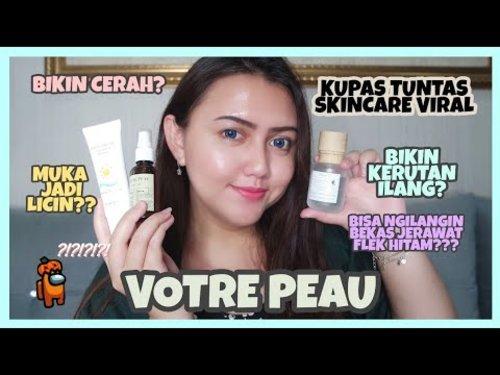 [Review] Votre Peau Skincare | Brightening Essence, Vitamin C Serum & Sun Shield | Khansamanda - YouTube