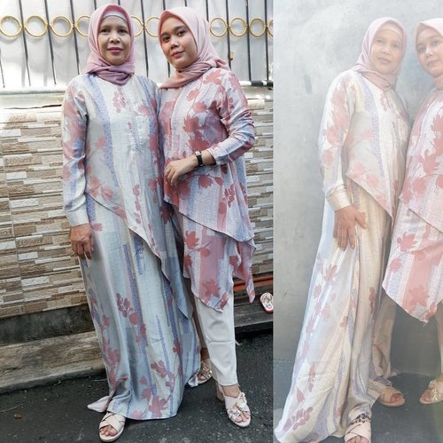 Day 2 still with my love 👩‍👧Wearing Safran Dress & Safran Tunik by @heaven_lights, hijabnya tentu HL Voal juga, pantsnya juga #deyapantshl 💞._#eidwithhl #HLLadies #hlraya2020 #heavenlightscustomer  #inlovewithhl #umrohwithhl #heavenlights #teampvra #clozetteid #clozette #ootdfashion #couples