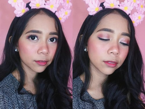 What do you think about this makeup look? 🙈💖 -- This is one brand makeup tutorial! All of the products that I used is using @silkygirl_id ✨ 💟Magic BB cushion (02 Natural Medium) 💟Hi-definition Brow Liner (02 Dark Brown) 💟Moisturise Smooth Lip Color (09 Sugar Plum) 💟Funky Eyelight Pencil (16 Rose Gold) 💟Perfect Sharp Matte Eyeliner -- #makeuptutorial #ibvbeauty #silkygirlxguardian #silkygirltriptojapan #japanese #akb48 #hangovermakeup #japanesemakeup #indobeautygram #bvloggerid #clozetteid #bunnyneedsmakeup #beauty #pink #makeup #tampilcantik