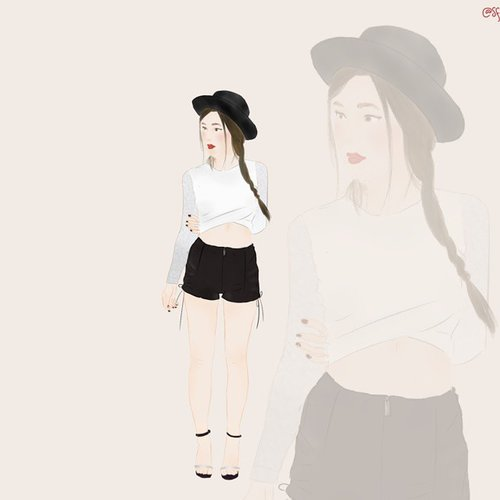 This is one amazing illustration from @sfilik ♡ thank you so much! Check out her works! She got the talent! #clozetteID #illustration #doodle #digitalpainting