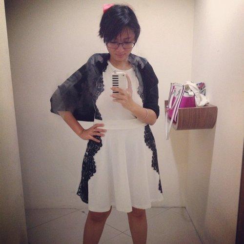 Bought a new dress. #recentpurchase #clozetteid #dress #white #instafashion #fashion