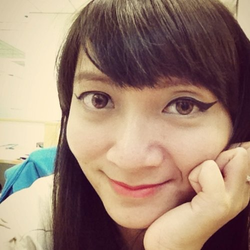 Gel liner Maybelline oke juga ya... #fotd #face #makeup #clozetteid #limecrime #maybelline