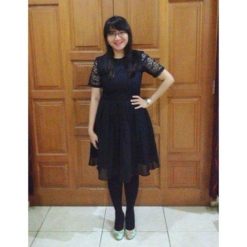 Yesterday's outfit. Dress by @Berrybenkashop @wearezocko #snapandshare #dress #ootd #instafashion #cKstyle #fashion #black #clozetteID