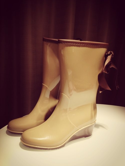 Boots I bought in Taipei. Very handy when it rains. #Rainy