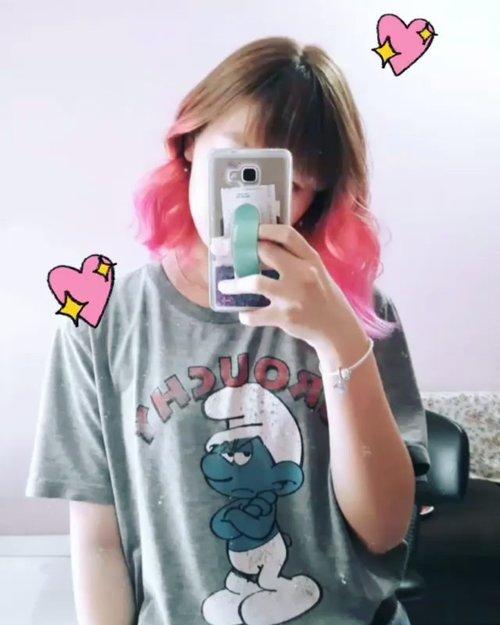 💖💖💖...#clozetteid #pinkhair #hairstyle #japobshairjourney #뷰티 #뷰티스타그램 #hairdo #ombrehair #pinkombre