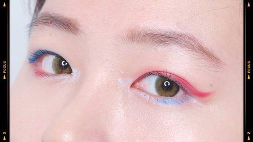 New on #japobstv : Blue x Red Makeup 💙❤️ This is a video from 2019 😅 Kemaren ngubek2 file trus banyak banget video makeup yg belum diedit  Nanti abis ini diedit satu2 deh sayang dibiarin gitu aja 😝 #japobsMOTD btw link in bio!...#clozetteid #indobeautygram #indobeautysquad #indobeauty #aestheticmakeup