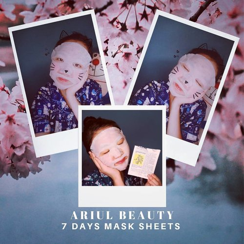 "As I mentioned earlier on IG Story, I'll share my review about Ariul 7Days mask sheet that I tried.. As the name suggests, @ariulbeauty has 7 variants; Green Tea, Avocado, Bamboo Water, Aloe, Pomegranate, Tea Tree, Lemon..😍 My favourite is the green tea..🍵🍵🍵 Once I removed it, I saw immediate result with my skin completely cleared up, redness visibly reduces, and my skin felt so smooth..☘️ It doesn't have a lingering scent, which is important for those with sensitive skin like mine..😊👌 I love how it hydrated my skin.. it wasn't sticky and absorbed quickly on my skin.. It didn't irritate or break me out..💞💞💞 I definitely highly recommended this product!  No wonder, these mask sheets sold every 8 seconds in Korea.. 😍  Do you feel interested to try? It's only Idr 14.900 on @sociolla.. Don't forget to use my voucher code ""SBNLAZD7"" to get 50k off.. 😁 . . . . . #ariulbeauty #ClozetteID #sbn #soco #sociollabloggernetwork #beautyreview #beautyjournal #reviewmasker #masksheet"