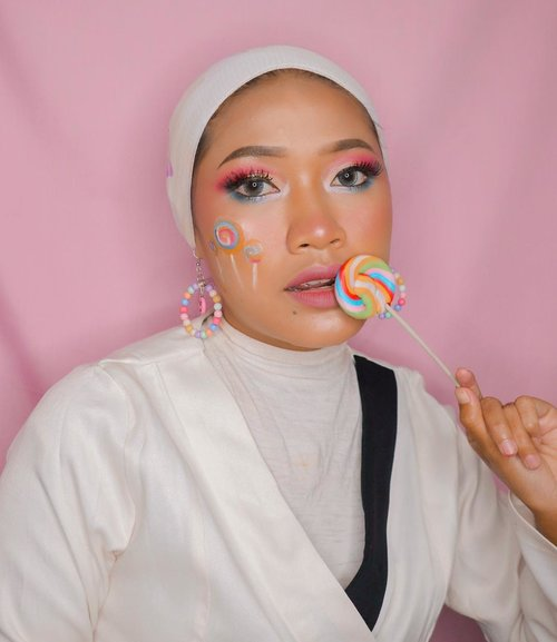 Lollipop Makeup 🍭#candymakeup #lollipopmakeup #clozetteid #motd #motdummu #indobeautygram