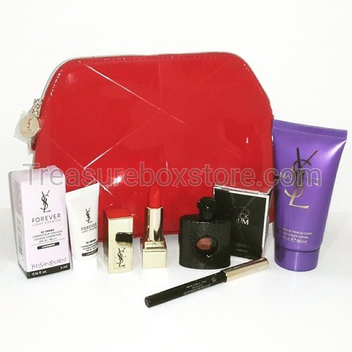 Ysl red package (rpc #1 mini, eyeliner #black, cc cream,  body lotion, edp 7ml,  pouch)  Treasureboxstore@gmail.com  #yslmini #minicosmetic #yslpackage #jualkosmetik #onlineshopjakarta #jakartaonlineshop #clozetteid #femaledailynetwork