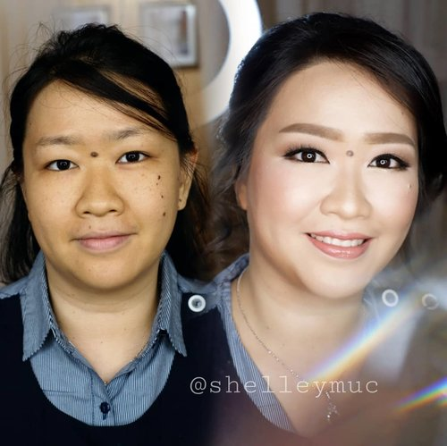 Makeup for my bestie @fany_wijaya  Makeup & HairDo by @shelleymuc @shelleyssebastian  Eyelash @artisanpro Ringlight @cathiestuff.id Eyelid tape @hara.makeupstore Crystal @kotakmua  #makeup #beauty #shelleymuc #surabaya #makeupartist #mua #shelleymakeupcreation #beforeafter #clozetteID #makeover #muasurabaya #muaindonesia #hairdo #soft #softmakeup #beautifulgirl #softsmokey #glammakeup #glamourmakeup #makeupartistsurabaya #surabayamakeupartist #correctivemakeup