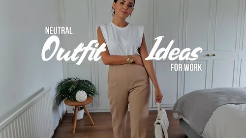 BACK TO WORK SUMMER OUTFIT IDEAS | NEUTRAL OUTFITS ft ZARA, H&M & NEW LOOK | Simply Kyri - YouTube