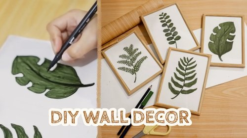 DIY ROOM DECOR #7 - Wall Decor Minimalist (Draw with Me) + Hacks (DIY on a budget) - YouTube