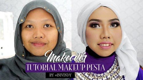 Tutorial Makeup  Pesta Untuk Wajah Bulat dan Cara menggunakan Scotch Mata  | Ini Vindy - YouTube
