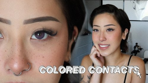 $13 Colored Contacts Try On dark brown eyes • ColorCL Siesta Sahara Collection - YouTube