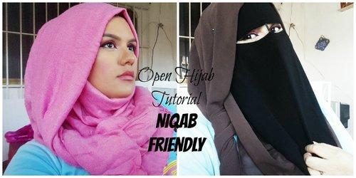 Open Hijab Tutorial | Niqab Friendly - YouTube