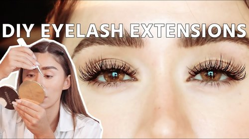 DIY EYELASH EXTENSIONS | safe to do at home! - YouTube