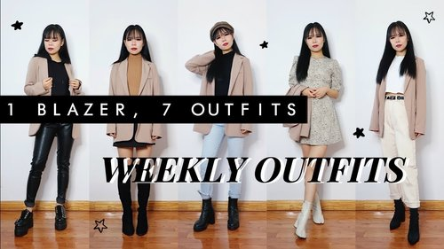 1 BLAZER, 7 LOOKS // WEEK OF OUTFITS - YouTube