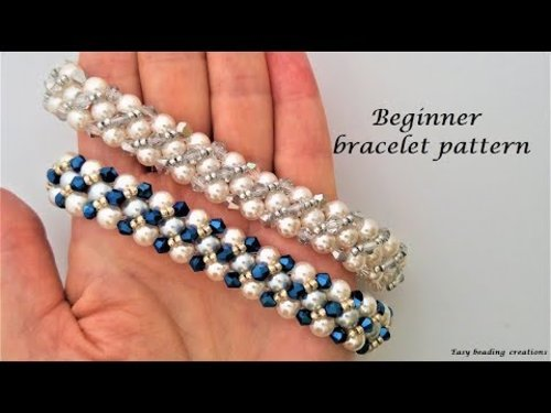 WOW, WOW!!!!!  Elegant beaded bracelet.  Beginner bracelet pattern, DIY - YouTube