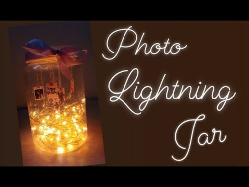 [DIY] Photo Lightning Jar | fairy lights mason jar diy - YouTube