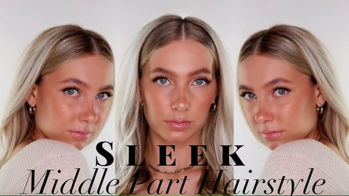 HOW TO: Sleek Middle Part Hairstyle - YouTube