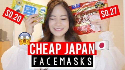 CHEAP JAPANESE Face Masks that WORK!! - YouTube