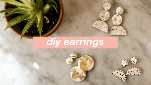 DIY Statement Earrings: How to Make 3 Easy Geometric Clay Earring Projects - YouTube