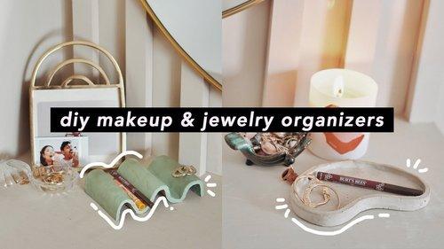 DIY Makeup Organizer & Jewelry Trays *DIY Ideas for your Vanity* - YouTube