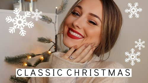 CLASSIC CHRISTMAS MAKEUP LOOK ♡ - YouTube