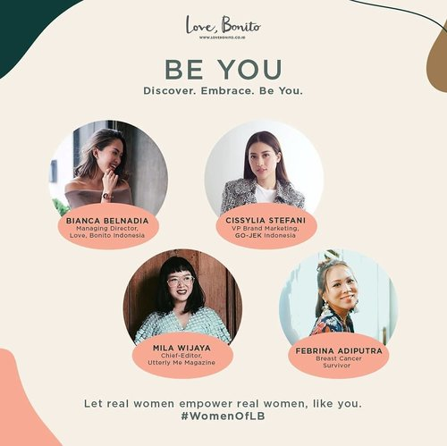 So honoured to be part of #BEYOU a talkshow by @lovebonitoid with three inspirational women  Managing Director @biancabelnadia @cissylia from @gojekindonesia @milawijaya from @utterlymemagazine as we celebrate Kartini, share our stories, motivations and creations together.  Let's find your true potential through discovering, embracing and being yourselves.  Entrance fee is Rp 150.000 includes @lovebonitoid shopping voucher, @shuuemura goodie bag worth 415k and private dinner with our speakers.  RSVP now - https://beyou.paperform.co  Supported by @shuuemura @nomzjakarta @utterlymemagazine @fleuricadesigns @rinku.id @goglamindonesia • • • • • • • • • • #ootd #clozetteid #indonesianbeautyblogger #jakarta #aboutalook #ootdindo #lookbookindonesia #instastyle #stylista #outfitshare #outfitinspo #outfitoftheday #whatiwore #fashioncoordinate #vsco #mommyandme #momstyle #mommyblogger #momfashion #todayimwearing #fashionpost #styleoftheday #ilovefashion #hypebeast #vscoindonesia