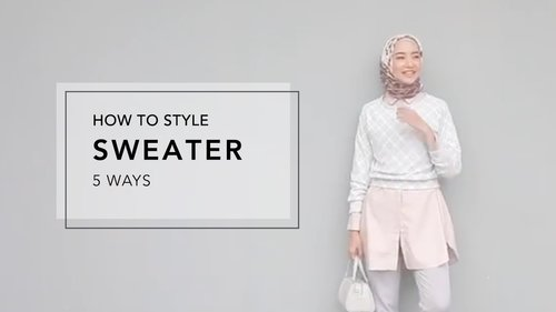 """<div class=""""photoCaption"""">How to Style Sweater 5 Ways - YouTube</div>"""