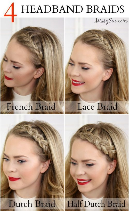 4 Headband Braids model inspiration