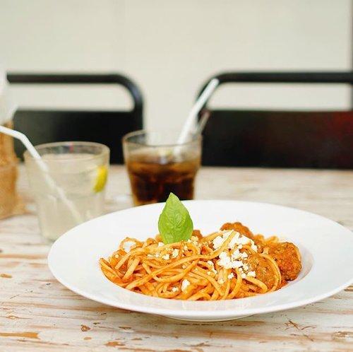 Greek meatball pasta. Nggak enak tapi 😂#clozette #clozetteid
