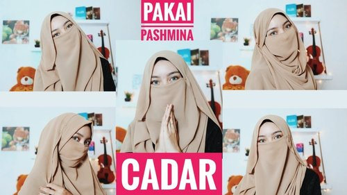Tutorial Cadar Menggunakan Pashmina - YouTube