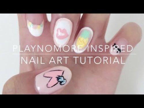 PLAYNOMORE Inspired Nails - YouTube