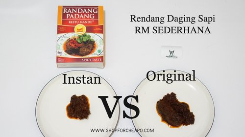 Shop for Cheapo: Rendang Instan vs Rendang Restoran, Rasanya Sama?