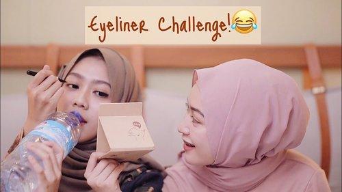Lucu banget challenge si Sari inii..EYELINER CHALLENGE UNTUK PEMULA WITH MY SISTER | SARITIW - YouTube
