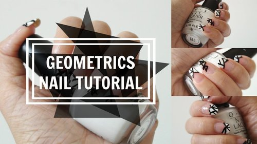 QUICK & EASY NAIL TUTORIAL 2015 | Geometric French Tips - YouTube