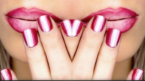 EASY ILLUSION NAIL ART FOR SHORT NAILS! | DYNA ❤ - YouTube