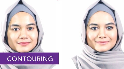 """<div class=""""photoCaption"""">Tutorial Make up Easy Contouring dengan Wardah untuk Hijabers 