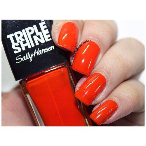 New post! A review @sallyhansen_id Triple Shine!  www.polishwonderland.com #notd #nails #nailpolish #sallyhansen #orange #orangenaolpolish #neon #sallyhansenid #fdbeauty #clozetteid