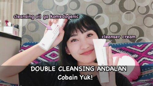 Double cleansing andalan dari @allyoung.id  Duo combo ini cocok banget buat kulit sensitif dan berjerawat. Eh buat yang berminyak juga cocok sih, karena cleansing oilnya ga bikin komedoan.  Review lengkapnya langsung tonton di Youtube.com/Lindaleenk ya  #Lindaleenk #ClozetteID #Vlogger #VlogLinda #BeautyVlog #Skincare #Skincareroutine #Acnetreatment