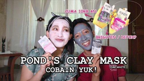 Udah tau belum @pondsindonesia punya clay mask yg kemasannya mungil banget buat dibawa travel.  Masker yg harganya ga sampe 10rb an tapi bisa dipakai berkali-kali ini bikin pingin nyetok banyak.  Full review di Youtube.com/lindaleenk ya!  #Lindaminireview #ClozetteID #Claymask #skincare #Skincareroutine #Vlogger #VlogLinda #purewhite