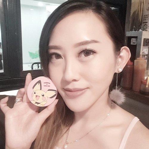 This this!!! Look at this!  Cute Pokemon blush on cushion from @cathydollindonesia will help you to look fresher!  Puffnya bentuknya pokeball lho lucu bangetttts . . . . . . . .  #fotd#makeup#potd#eotd #wakeupandmakeup #powerofmakeup#beautyblogger #beautybloggerindonesia #cathydoll#undiscovered_muas #selfie #indobeautygram#motd#motdindo #clozetter #beautygram#clozette #cathydollgathering#makeuplover #beautyjunkie #clozetteid #cathydollxbeautyandthebeast #bblog #fdbeauty #beautybloggerid #dressyourface #like4like #like #sephoraidnbeautyinfluencer #vloggerindonesia