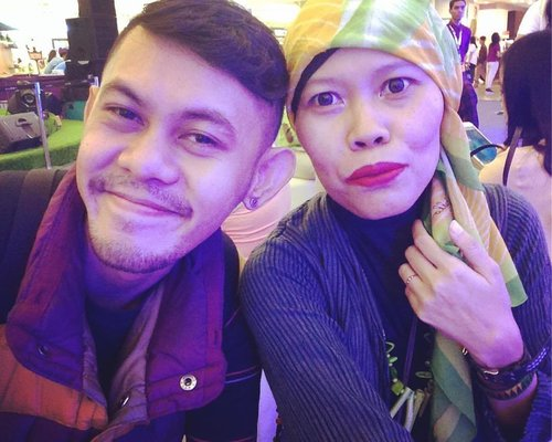Beauty and the best 💄BLP @bylizzieparra  #clozetteid #makeup #hijabstyle #style #couple #beauty #brightspotxJeniusLIVE #latepost