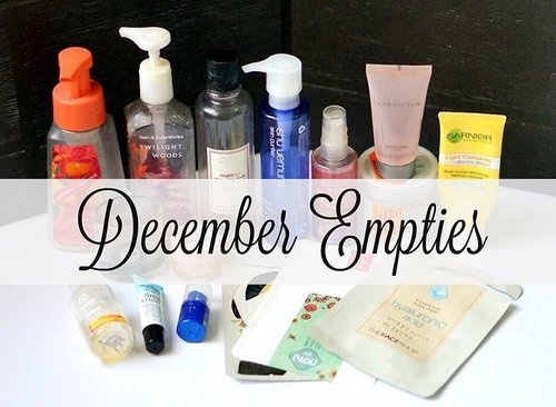 (#ontheblog) : Products I finished during November - December + mini reviews on each product ! Link on profile or go here >  http://alturl.com/3naag . . . . #blogged #empties #beautyblogger #bblogger #bloggerperempuan #bloggerceriaid #beautygram #beautyreview #instalove #girlsstuff #clozetteid
