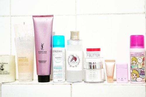 (#blog) | This morning's#skincareroutine : . 💐 Dr.Vita Clinic Gently Vita Exfoliator 💐 @yslbeauty youth liberator cleansing foam 💐 @bioderma_indonesia Hydrabio Brume 💐 #Guerisson 9 Essence Complex 💐 @lavinecosmetics Clarity Moisturizer 💐 @korres.athens Lip Butter 💐 @cliniqueindonesia All About Eyes Serum . EXTRA : 💐 #Givenchy Play eau de parfum 💐 @etude_official Dry Shampoo . . #skincareblog #skincaremenu #skincarediary #skindiary #skincaregram #bblogger #beautypost #beautygram #beautyblogger #kbeauty #rasianskincare #fdbeauty #ykskincare #clozetteid