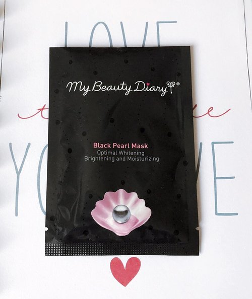 """🃏7 Days of #SheetMasks ~ {Day 6} 🃏 . >> #MyBeautyDiary Black Pearl Mask << . First of all, the packaging says : """"Optimal whitening, brightening, and moisturizing. Supreme black pearl essence from Tahiti is rich in vitamins, minerals & amino acids that will rejuvenate tired dull skin"""". It is formulated with yeast protein and lemon extract to tone and brighten skin. >>> My Take : This one has an abundant of essence! It drips (i hate dripping sheet masks, ugh!) and felt a bit warm on my skin at first touch, and it also has that tingly sensation when i put it on the first time. It has plastic backed sheet with a very transparant material that fits rather small for my already-small face. Overall it does give you brightening and moisturizing effect, and I also used the abundant essence left inside the packet for my neck, hands, and feet. Yes the essence was that abundant I can literally cover my face, neck, arms, and legs!). . . . . . . . . #sheetmaskreview #sheetmaskkorea #sheetmaskaddict #sheetmasking #bblogger #bloggerceria #clozetteid #indonesianbeautyblogger #bloggerperempuan"""